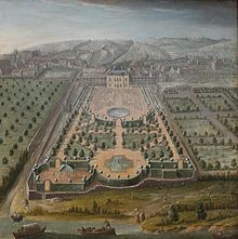 The French formal garden, also called jardin à la française, is a style of garden based on symmetry and the principle of imposing order over nature. It reached its apogee in the 17th century with the creation of the Gardens of Versailles, designed for Louis XIV by the landscape architect André Le Nôtre. The style was widely copied by other courts of Europe.
