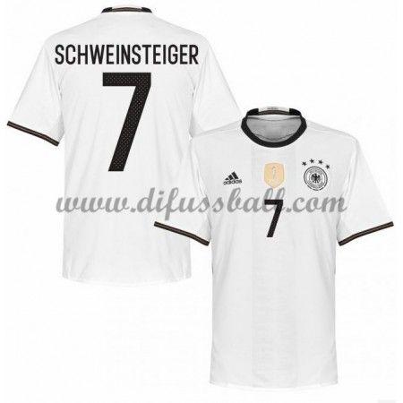 Nationaltrikot Deutschland 2016 Schweinsteiger 7 Kurzarm Heim Fußballtrikots