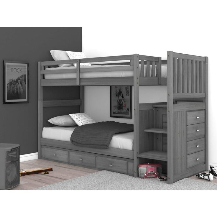Best Sandler Bunk Bed With Drawers Bunk Bed Rooms Bunk Beds 400 x 300