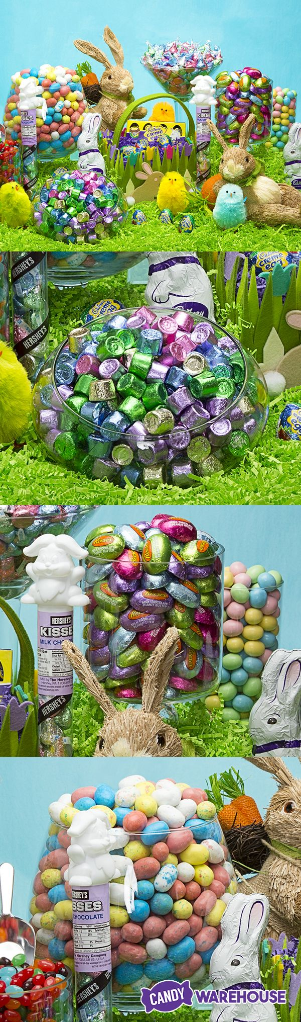 Don't just go with the same generic grocery store candy this year. Fill your Easter baskets with colorful brand-name favorites like spring color Rolos, Reese's peanut butter eggs, and Whopper speckled eggs! See even more Hershey's Easter candy at http://www.candywarehouse.com/landing-pages/hersheys-easter-candy/