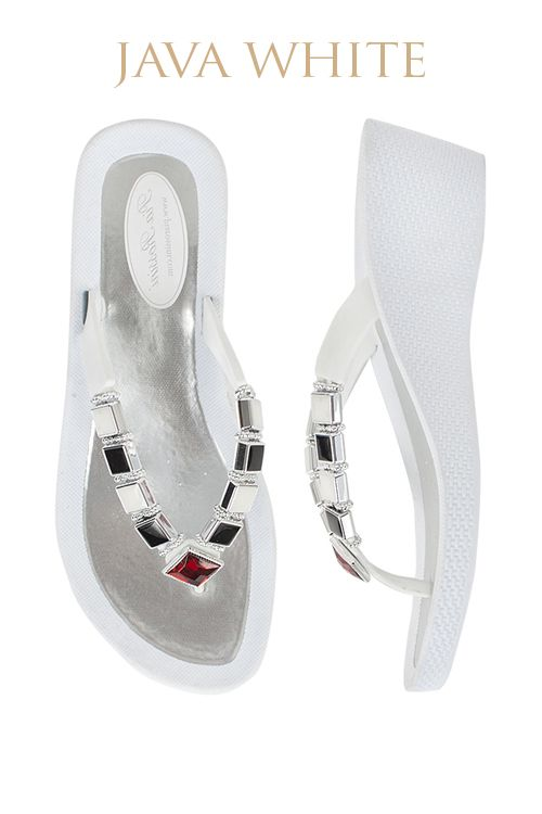 Java Ultimate Pool Shoe - White Base  Available from www.piarossini.com #PiaRossini #UltimatePoolShoe #Pool #Shoes #Sandal #Beach #Cruise #Comfort #Resort