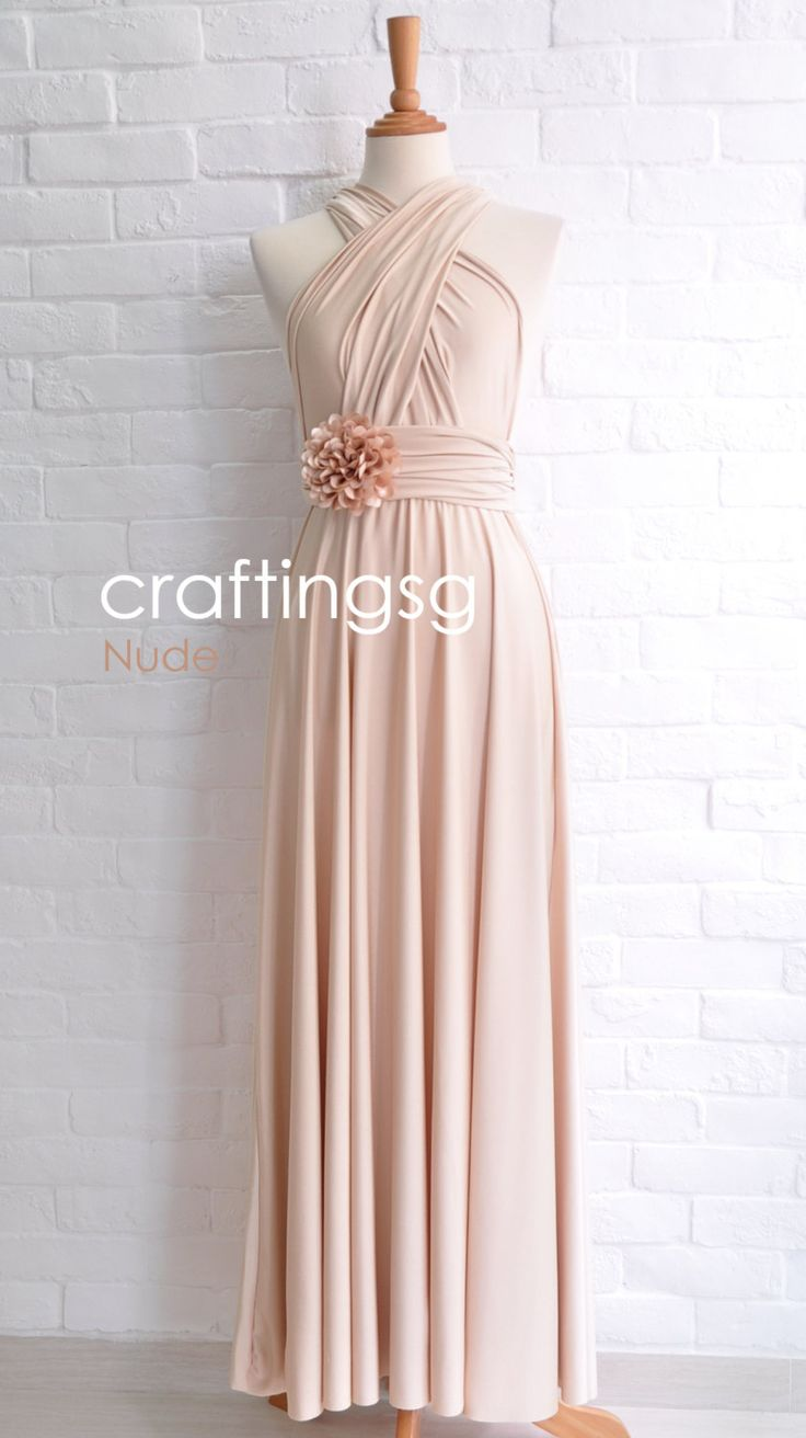 13 best dessy twist wrap bridesmaid dresses images on pinterest bridesmaid dress infinity dress nude floor length wrap convertible dress wedding dress on etsy sold ombrellifo Images