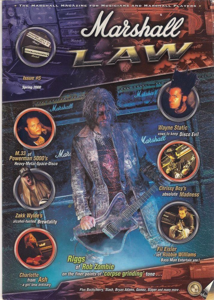 Marshall Law magazine, Wayne Static, Powerman 5000, Zakk Wylde
