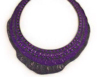 Collana di perline pizzo  maglia con di irregularexpressions