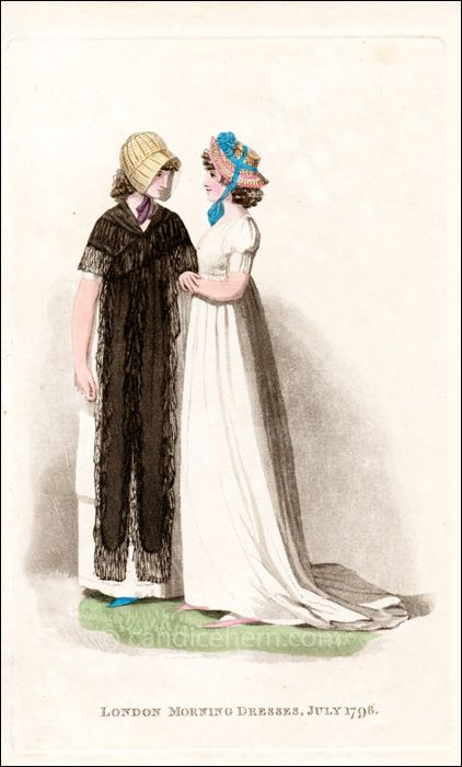 Morning Dresses, July 1798 | CandiceHern.com