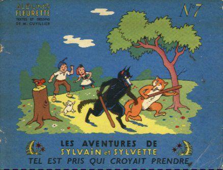 Couverture de Sylvain et Sylvette (01-série : albums Fleurette) -7- Tel est pris qui croyait prendre