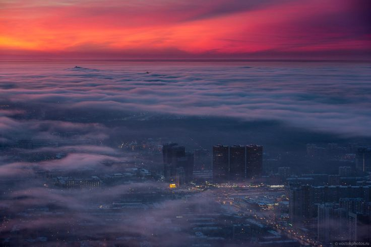 Once a year during winter Moscow becomes the City above the clouds – Slavorum