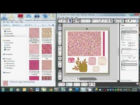 How to use Digital Paper in Silhouette Studio Designer Software (Quick drag & drop option + how to create a printer's bleed).