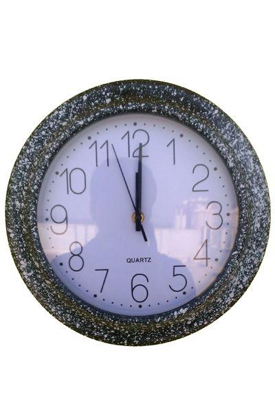 Wall clock Creative Arts stylish black and white quartz glass mirror wall clock round  www.fashiongroop.com