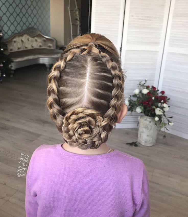 Косы прически из кос, детские прически, идеи причёсок