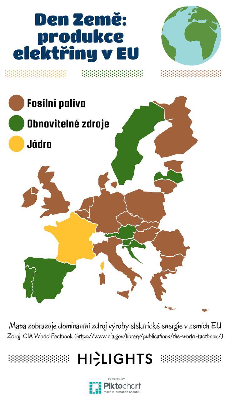 Dominantní zdroje energie jednotlivých států EU. #EarthDay