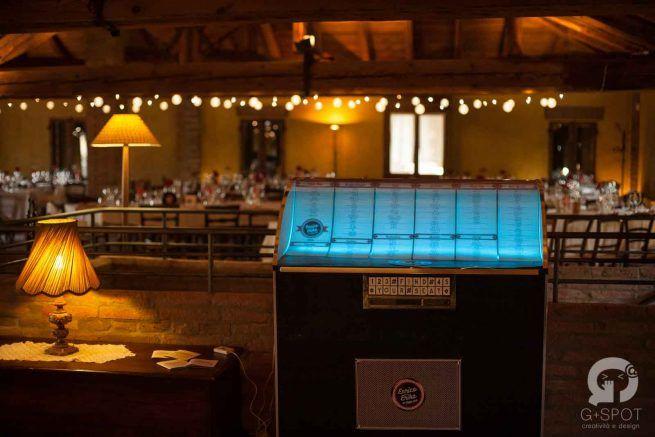 Tableau jukebox wedding rockabilly theme Gspotlabs | Love, paper & co. #Wedding Design Bologna #gspotlabs #Lovepaperandco #tableau #tableaudemariage #matrimonio