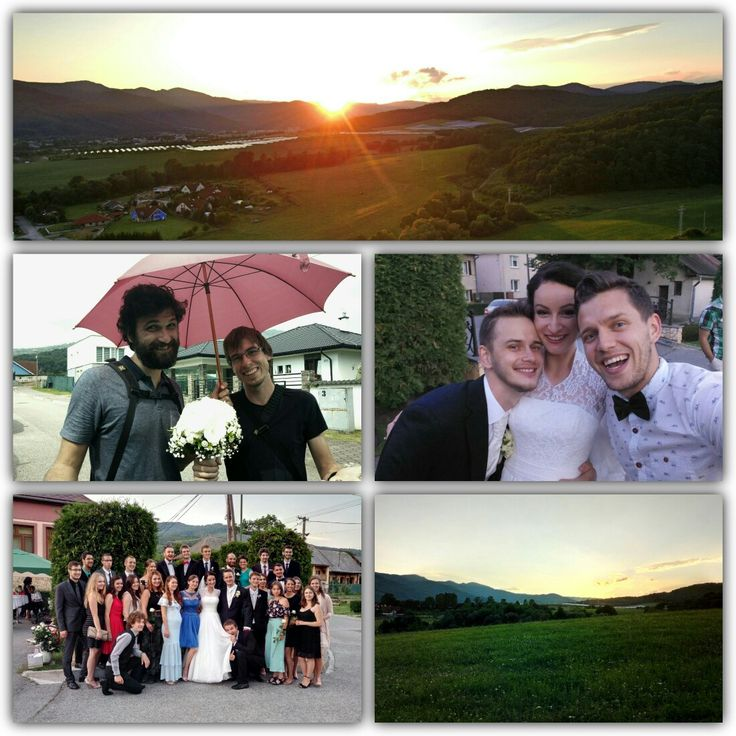 Úžasný mladomanželia, ľudia a príroda <3 . Milujem okolie Revúcej ;-) #wedding  #revuca #sunset #nature #11