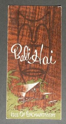 Vintage Bali Hai Menu!