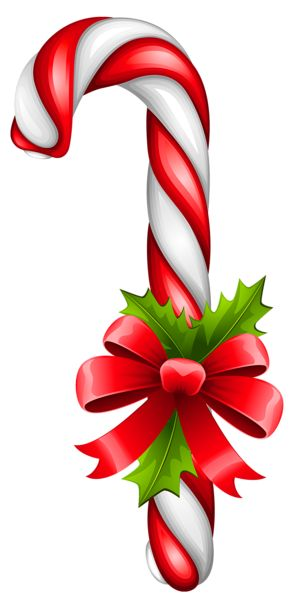 Christmas Candy Cane Transparent PNG Clipart
