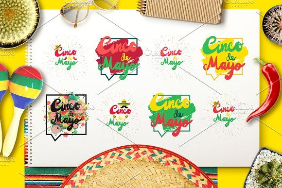 Cinco De Mayo Greeting by barsrsind on @creativemarket
