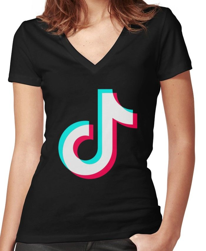 Tiktok Fitted V Neck T Shirt By Luckyluciano77 In 2021 V Neck T Shirt V Neck Women