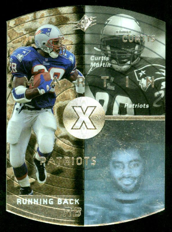 NEW ENGLAND PATRIOTS 1998 SPX SILVER CURTIS MARTIN NMMT #28 FREE SHIPPING #NewEnglandPatriots