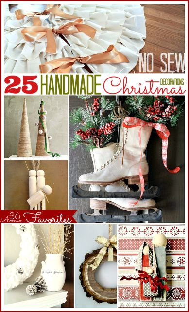 Gorgeous #Handmade #Christmas Decorations... Love them all! the36thavenue.com