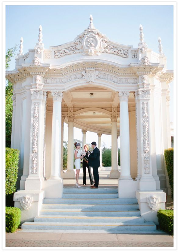 Wedding/Elopment at the Organ Pavilion in Balboa park in San Diego, CA I so would love to do this with David! Is 3 years too soon to renew our vows?