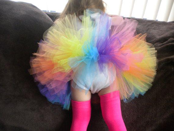 Rainbow Brights Tutu for babies toddlers by SweetPeasCommuniserv, $19.00