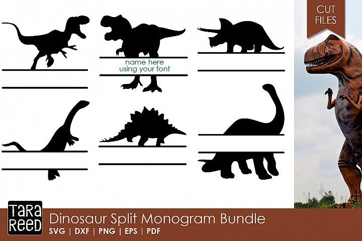 Download Free Dinosaur Monogram SVG pack. Perfect for boys! # ...
