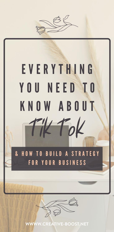 Tiktok For Business Business Boost Business Video Business Blog