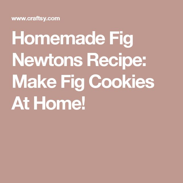 Homemade Fig Newtons Recipe: Make Fig Cookies At Home!