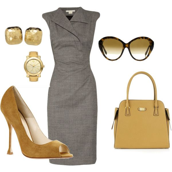 Love the grey and camel. Perfect for client meetings
