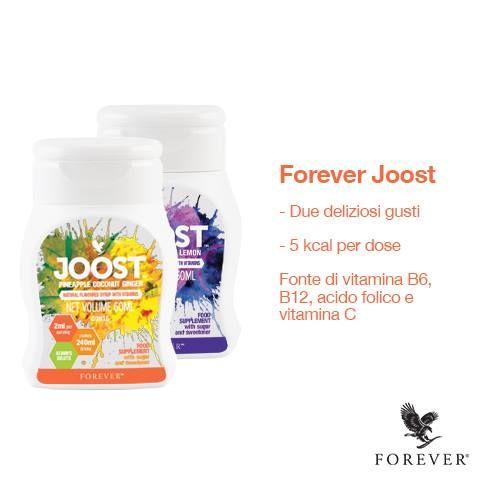 Forever JOOST è una nuova categoria di prodotti Forever che offrono la possibilità di aggiungere un po' di varietà alle tue bevande con una carica in più. Questa dolce formula al gusto naturale di frutta fa molto di più del donare un buon gusto alle tue bevande preferite. Ti aiuta anche a beneficiare delle vitamine B essendo un'eccellente fonte di vitamina B6 e B12, acido folico e vitamina C ad ogni dosaggio. Disponibile in due deliziosi gusti: Mirtillo/Acai/Limone & Ananas/Cocco/Zenzero…