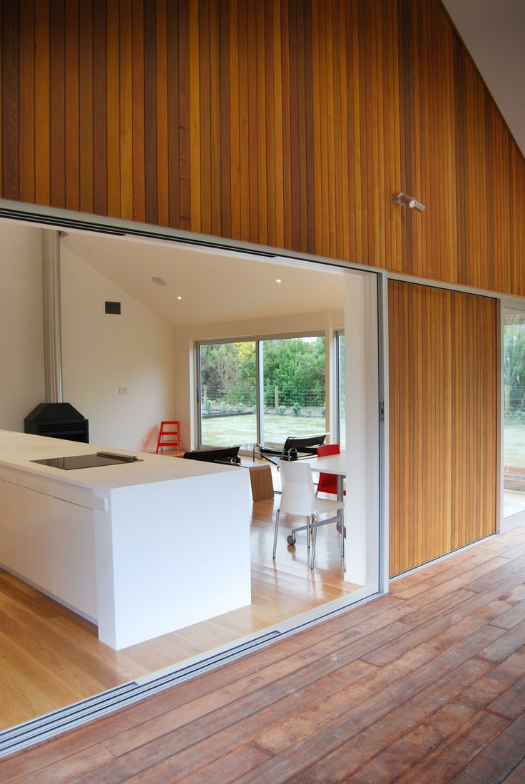 Similar effect to Lot 124, except it will be in black Abodo shiplap. Koia Architects - Starter home, Cedar Clad Greytown New Zealand