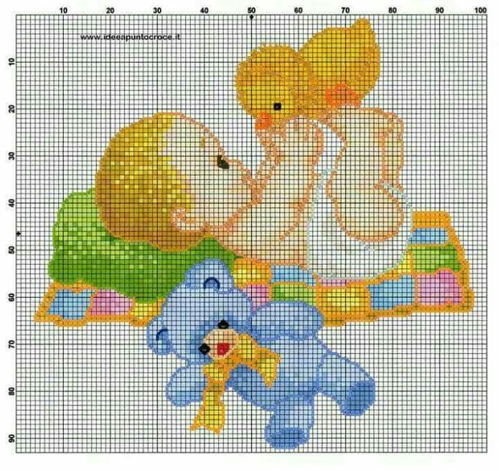 Картинка для вышивания крестиком новорожденных