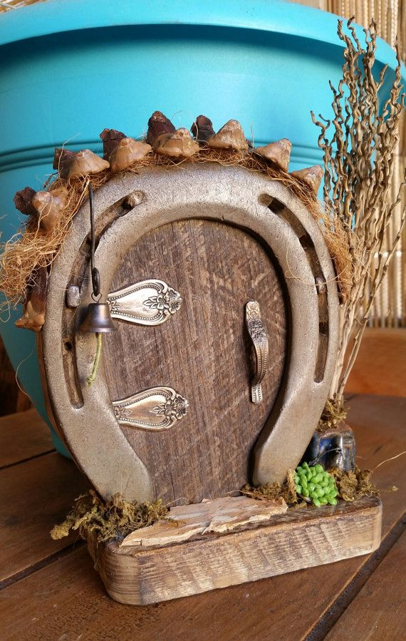 Horseshoe fairy door by kelleyco on etsy iron works for The works fairy door