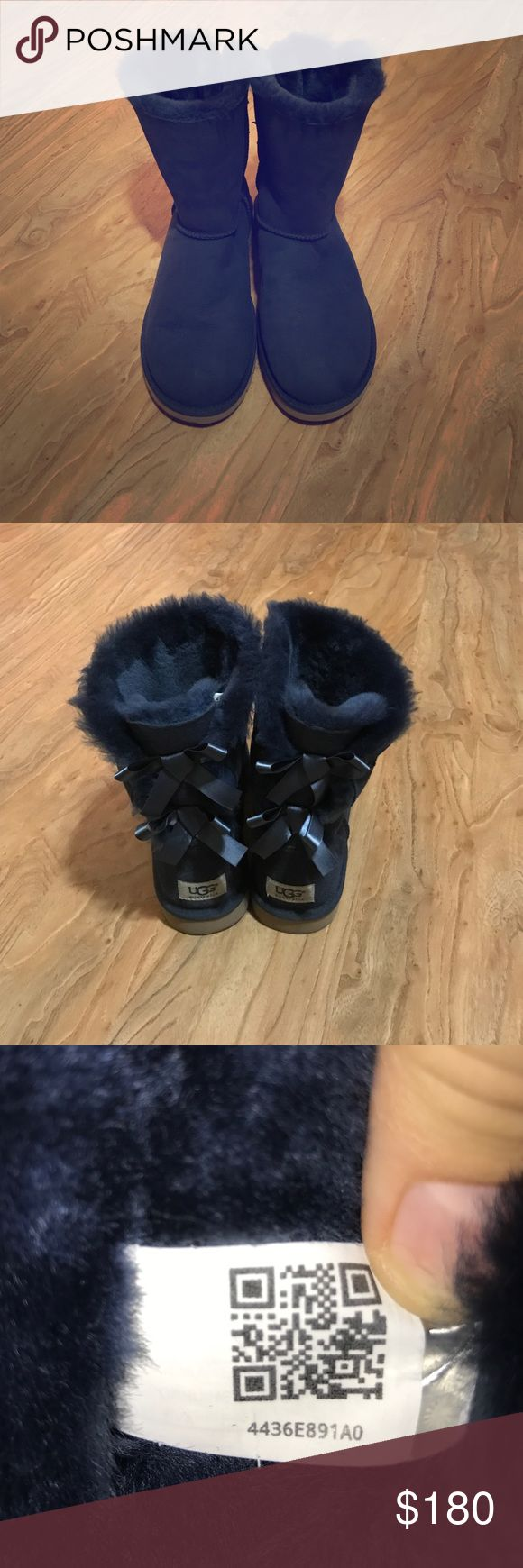 Ugg Bailey Bow Boots Authentic Ugg bailey bow boots, great condition, they just didn't fit me, they are a size 9, I don't have the box, I bought the shoes from someone on this app UGG Shoes Winter & Rain Boots