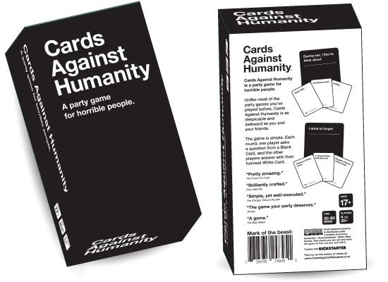 Custom Two Piece Card Box - Cards Against Humanity