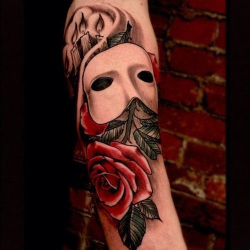 Phantom of the Opera Tattoo. I want something like this for Dad