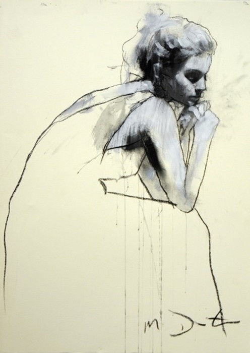 drawing: Illustrations Art, The Artists, Design Handbags, Charcoal Drawings, Figures Drawings, Art Drawings, Emma Leonard, Mark Demsteader, Art Rooms