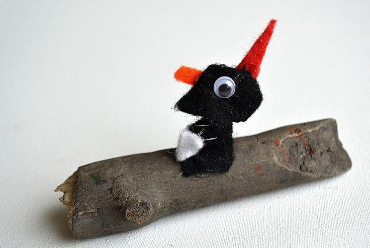 little woodpecker felts artwork