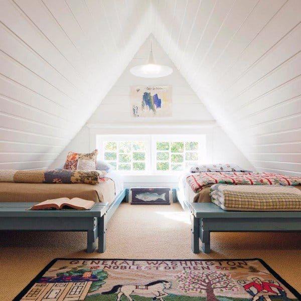 60 Cool Attic Bedroom Ideas Ascended Sleeping Quarters In 2021 Discount Bedroom Furniture Attic Master Bedroom Master Bedrooms Decor