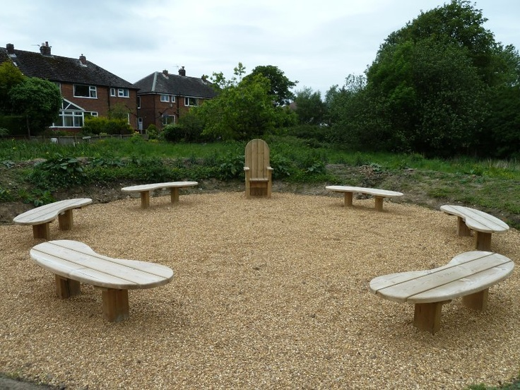A quaint story telling seating area, perfect for keeping children intrigued on a sunny afternoon!