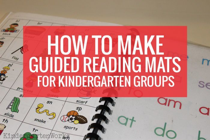 How to make guided reading mats for each child in your guided reading group. Work smart with an alphabet chart, blends/digraphs chart and sight words too!