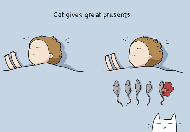 Gatos: seres complicados e amados ao mesmo tempo. Quem tem um provavelmente já passou por situações nada convencionais com eles, mas quem não convive com os bichanos não sabe o que é ser realmente desprezado na vida. Sim, bem-vindo à estranha natureza destes bichinhos. Para brincar com isso e mostrar como amamos os felinos apesar detudo que eles fazem, a loja online russa Lingvistov criou uma série de ilustrações sobre os benefícios de ter um gato. Se por um lado, a ideia é bastante…