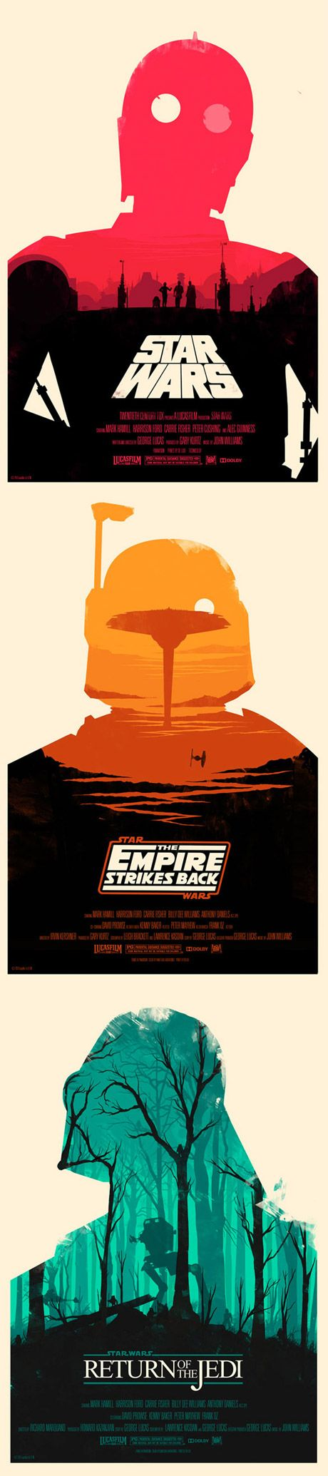 These limited edition Star Wars posters would look awesome in the theater room. #starwars