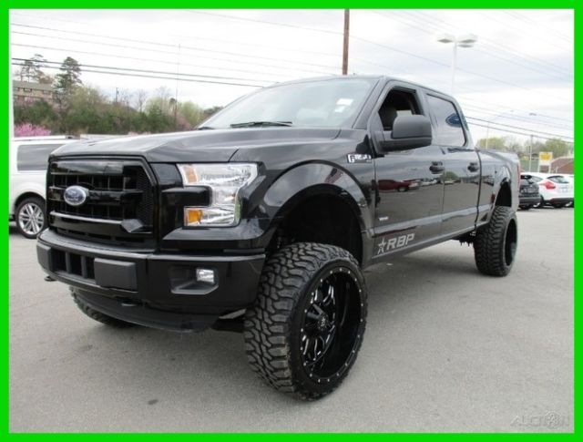 2015 ford f150 super crew cab xlt 4x4 bms lift kit black out package 9k miles