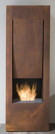 copper mini fireplace