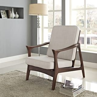 Antieke Lounge Stoel.Canoe Brown Wood Mid Century Lounge Chair Interieur Ideeen