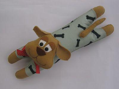 Arte e Mimos - Artesanato em feltro: Sabor de Vida hoje! Cachorrinho peso de porta!