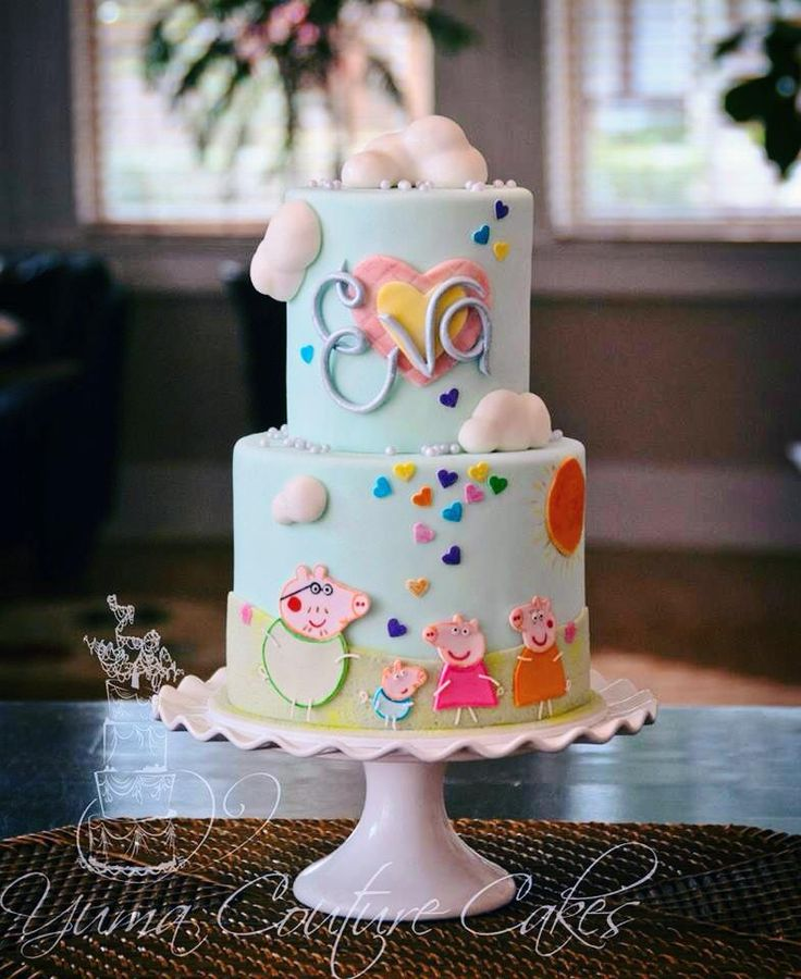 Gorgeous Peppa Pig cake -Yuma Couture Cakes