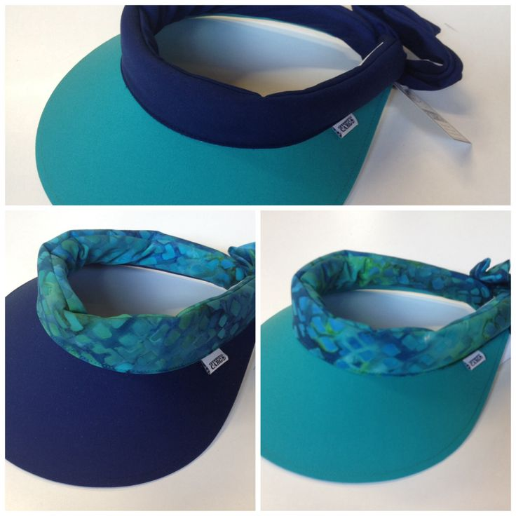 Precious Cargo regular visor in a combination of navy and jade with tie dye trim.