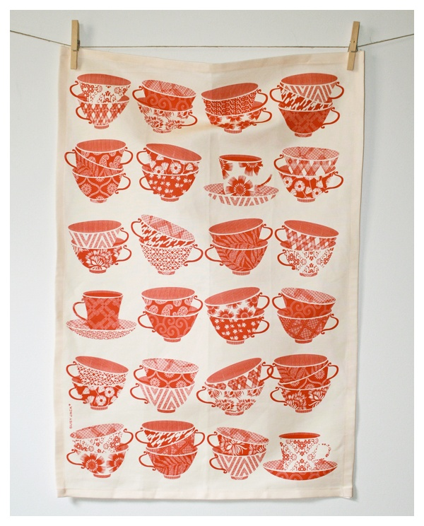 Two For Tea Towel by Susy Jack: Pattern, Tea Towels, Susyjack, Teas, Jack O'Connell, Kitchen, Design